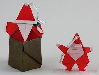 Origami Christmas Santa Claus