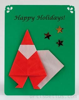 More Origami Santas