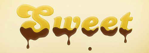 Create a Sweet Chocolate-Coated Text Effect Photoshop tutorial