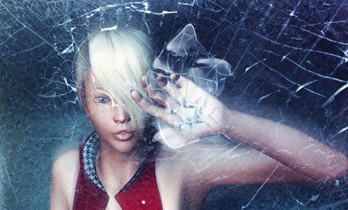 Broken Glass Photoshop Photo Effect Photoshop tutorial
