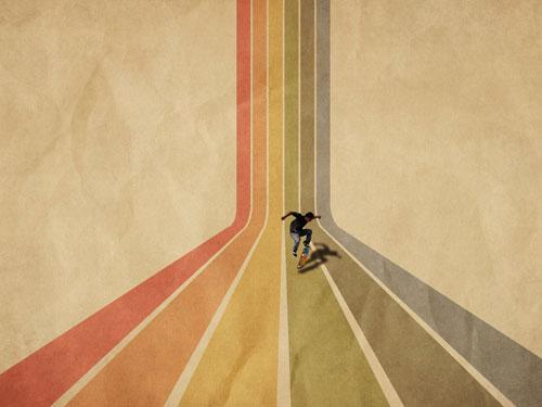 Retro Rainbow Stripes wallpaper