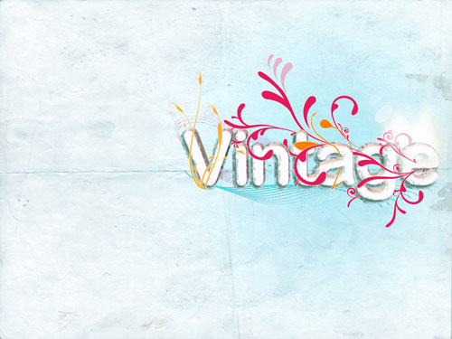 Vintage Swirls wallpaper