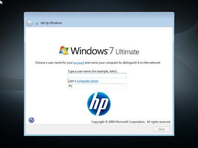 Windows 7 Ultimate Hp Compaq