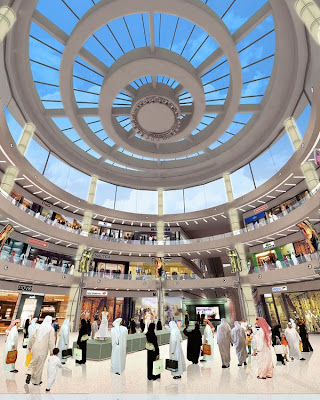 The Dubai Mall grand atrium view