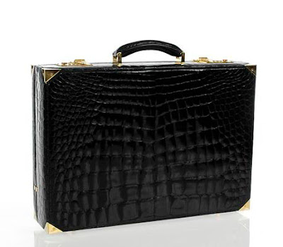 Gucci Crocodile Attache Briefcase