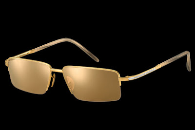 gold porsche sunglasses