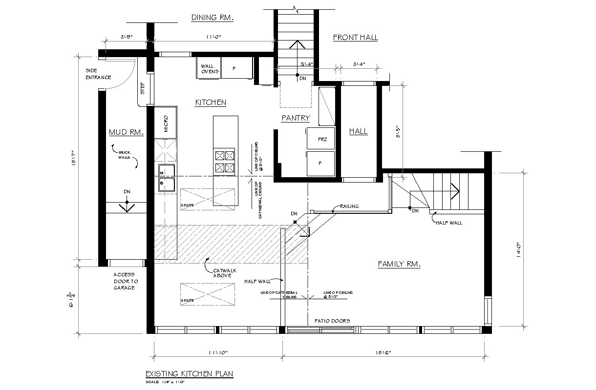 Creed new project gail 39 s kitchen reno Floor plan view