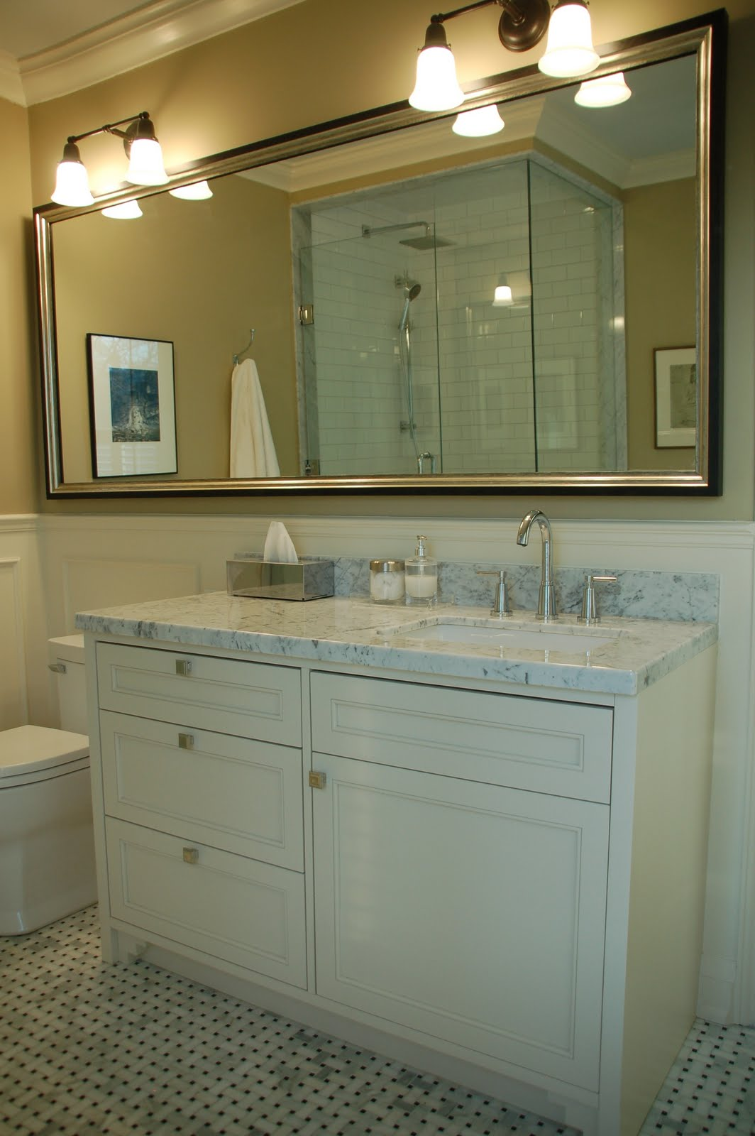 Creed before after e design bathroom project - Bathroom vanity tops with offset sink design ...