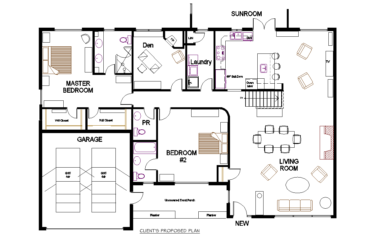 Creed new project a 70 39 s bungalow redesign for Web design blueprints