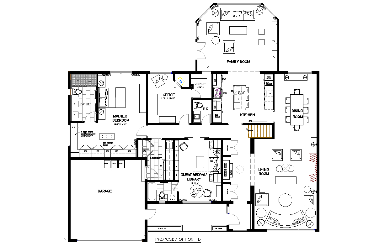 Bungalow OpenConcept House Plans
