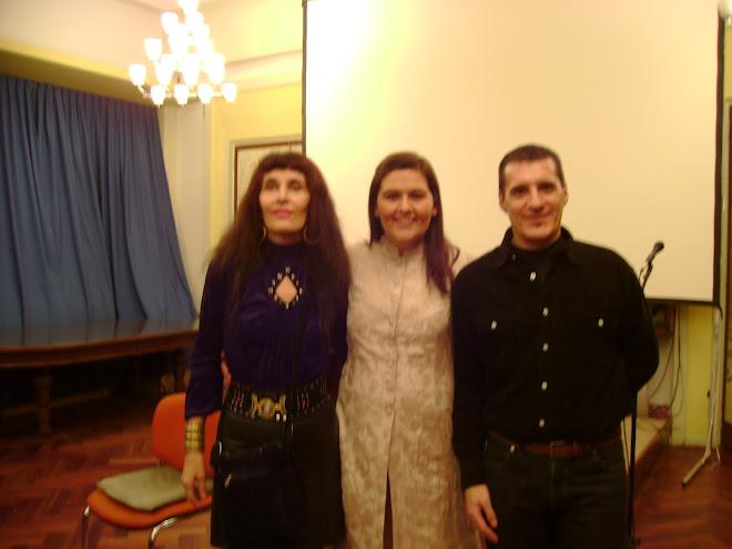 Marcela y Oscar Docampo, profesor  de arpistas