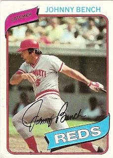 1980 Topps Baseball 100 Johnny Bench