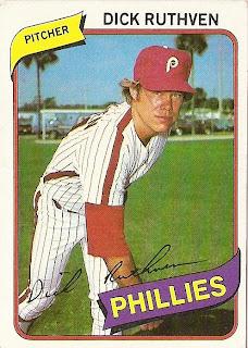 1980 Topps Baseball 136 Dick Ruthven