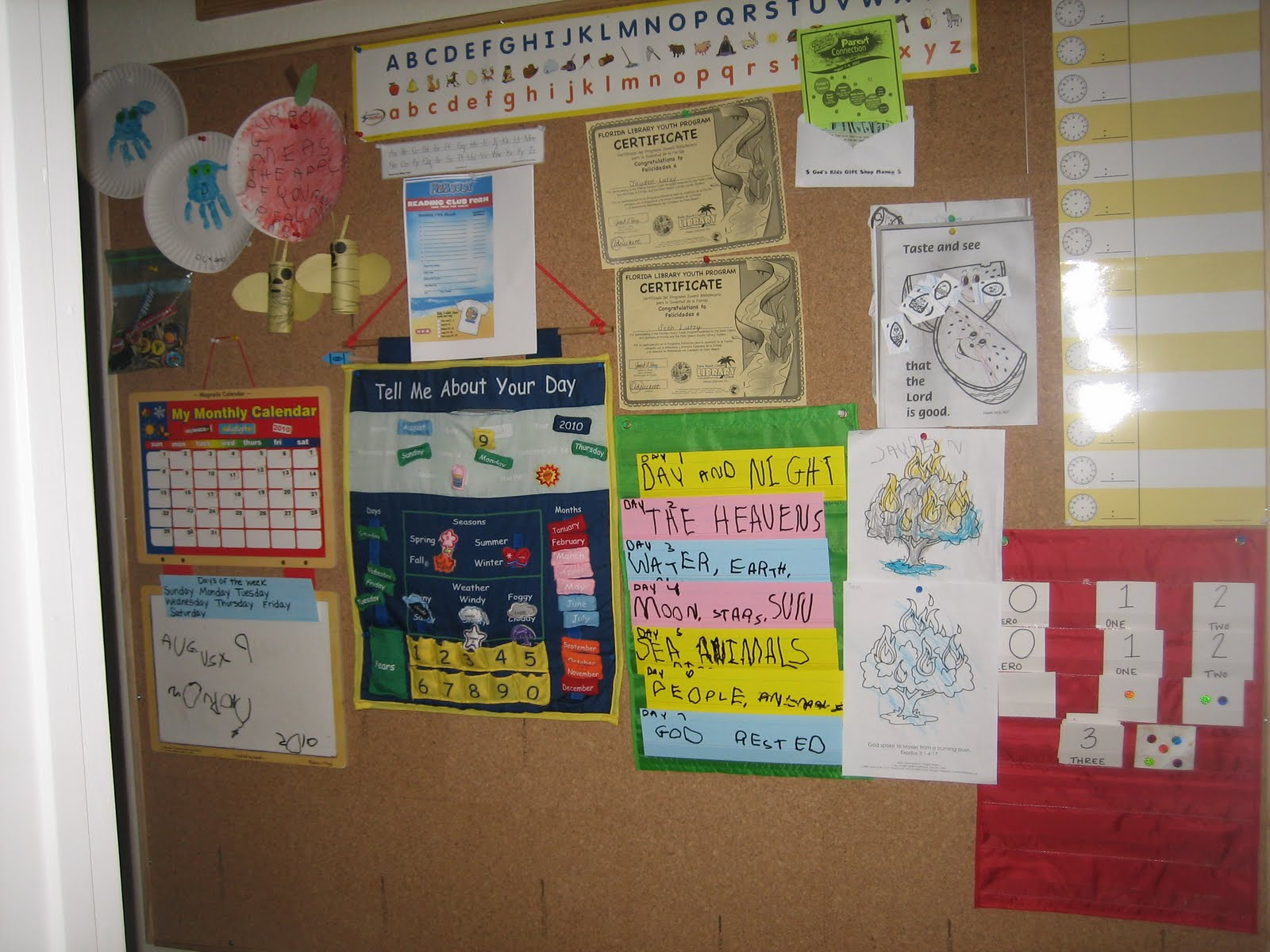 Show me your homeschool classroom homeschool for Bulletin board organization