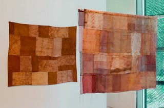 Extinction Wrap - a contemporary art quilt by Pamela Fitzsimons