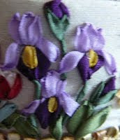 Fairy Crafts Silk Flowers http://fairy-crafts.blogspot.com/2009/09/silk-ribbon-embroidery-flowers-on-new.html
