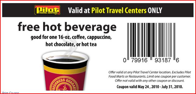 Pilot travel centers printable coupons