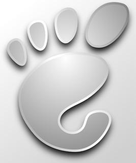 Fuga de botones en Gnome Gnome+Logo.