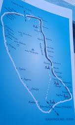 Map of Fakarava Atoll