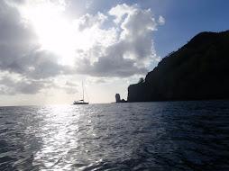 QuickStar at anchor