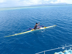 Outrigger Canoeists with us