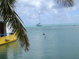 At anchor in Aitutaki