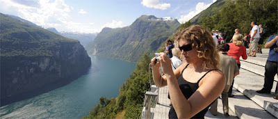 Geiranger, one of the most beautiful fjords in norway