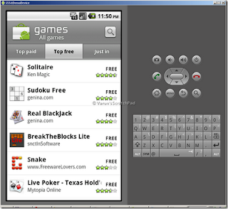 Android Market run on Emulator