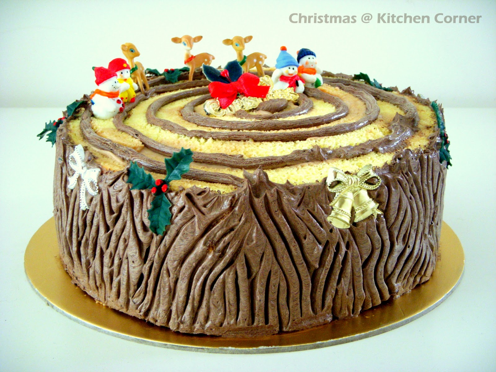 How to make a christmas yule log decoration - Christmas Log Cake