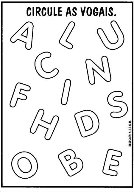 Exercicios De Alfabetiza    O Para Imprimir
