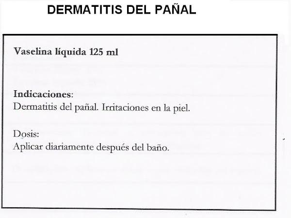 Fórmula Magistral . Dermatitis del pañal.