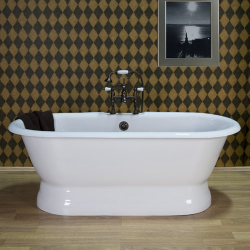 Casa di costa freestanding tub in master bathroom Cast iron tubs vs acrylic