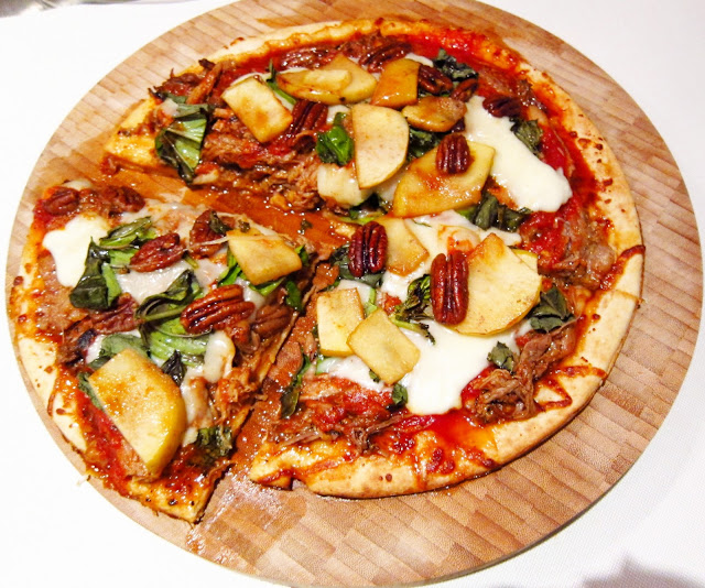 Gastropub Cuisine, Gourmet Pork Shoulder Pizza