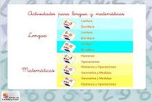 ACTIVIDADES PARA LENGUAJE Y MATEMÁTICAS DE 1º A 7º BÁSICO