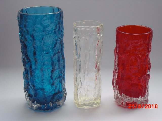 Whitefriars Glasswannabees Bark Vases Ravenhead Versus Whitefriars