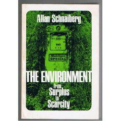 The Environment: from Surplus to Scarcity