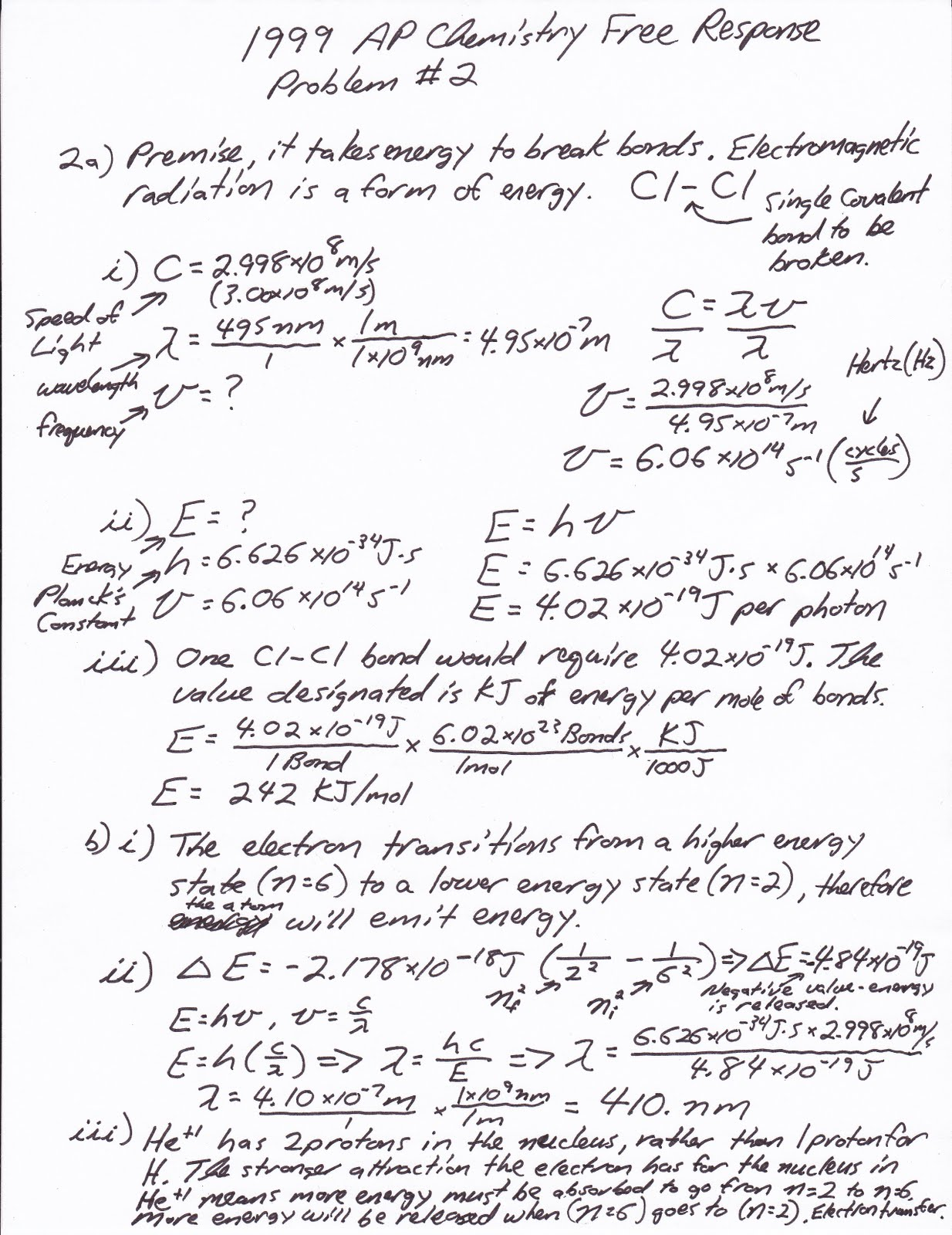 Below are the solutions to the problems given out on Thursday, May 6th,  2010 after the Electrochemistry quiz.