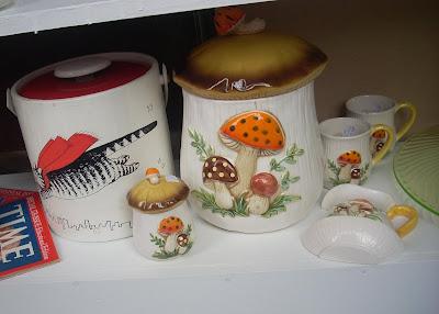 Vintage 1970's SEARS ROEBUCK & CO. Retro Merry Mushroom Curtains