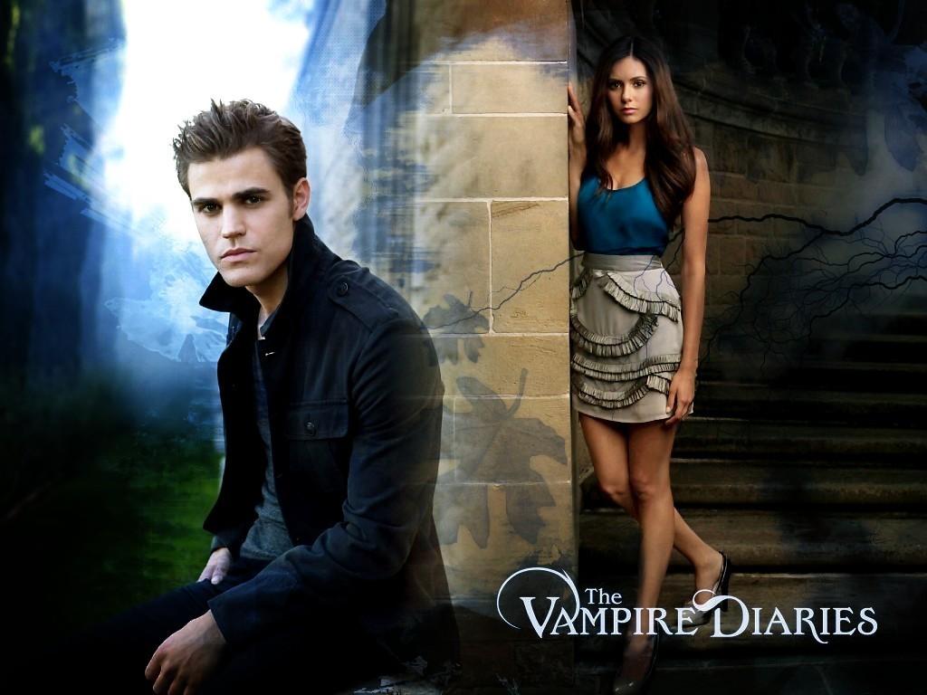 The Vampire Diaries Stefan-elena-the-vampire-diaries-8415250-1024-768