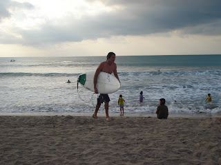 kuta beach is good for surfers and families
