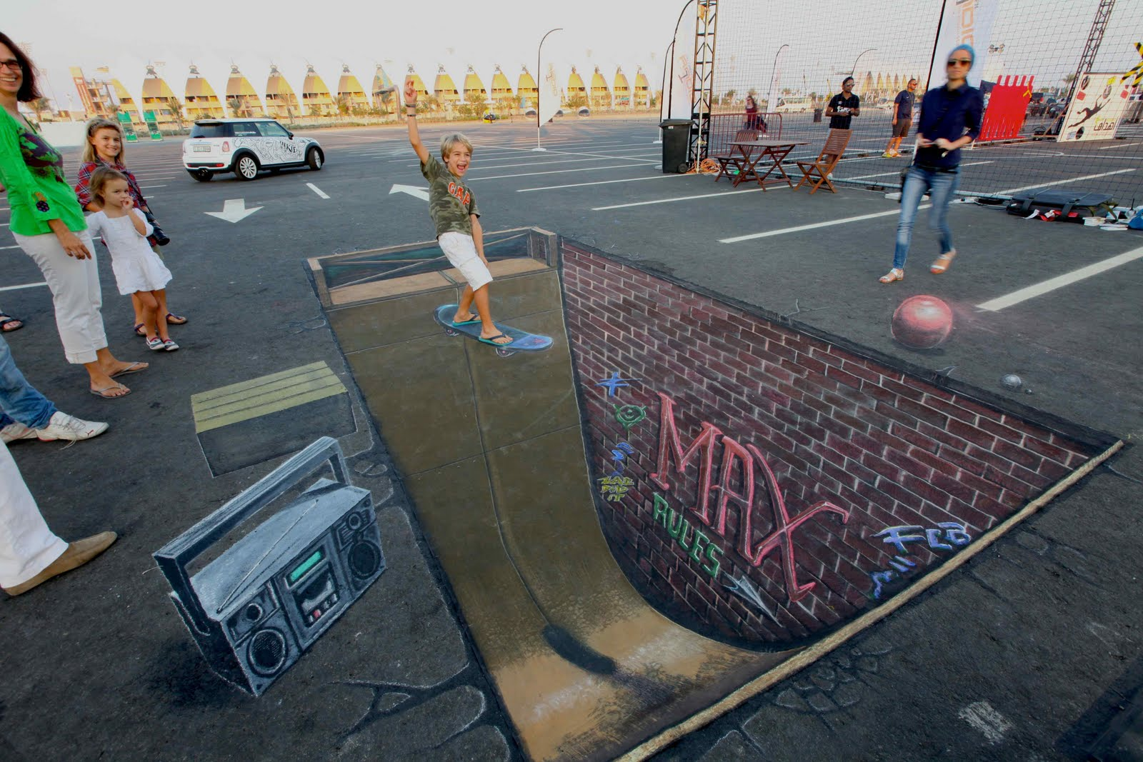 outdoor advertising that rocks.: 3d comes to the middle east