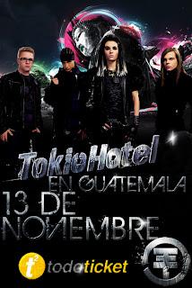 Publicidad de Tokio Hotel en Guatemala Anuncio