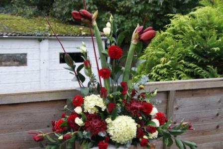 Vicki White Floral Design Ruby Wedding Anniversary