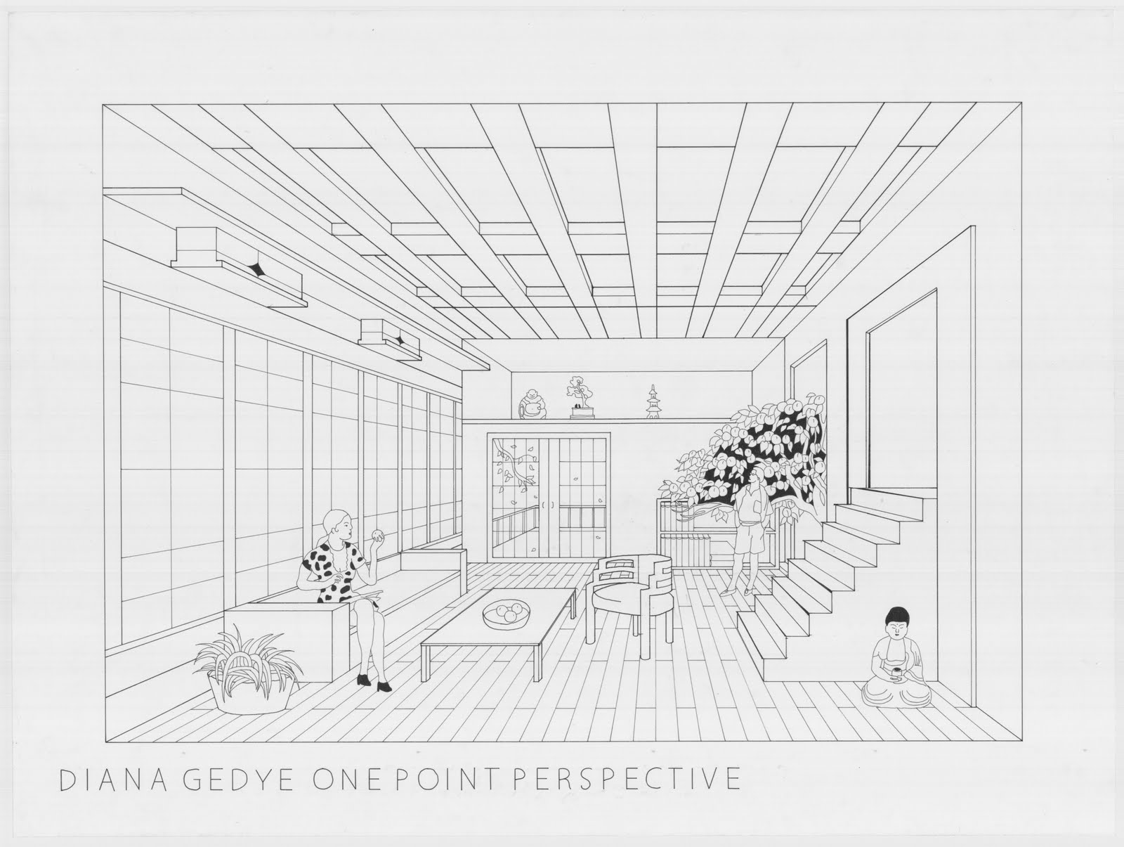 One point perspective living room drawing - One Point Perspective Room By Pockyshark On Deviantart E P Perspective Pinterest Perspective One Point Perspective And Deviantart