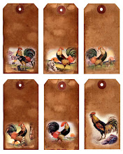 Free Digital Rooster Hang Tags