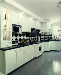 Interior design hiasan dalaman home design inspirasi for Kitchen set warna putih