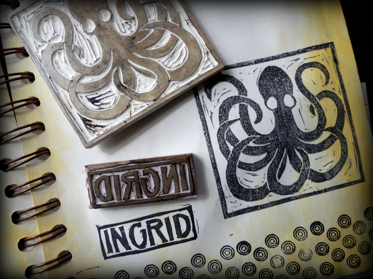 Ingrid dijkers rubber stamp carving