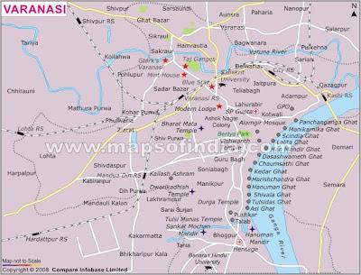 VARANASI CITY MAP OF VARANASI CITY - Varanasi map