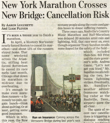 New York Marathon Crosses New Bridge: Cancellation Risk