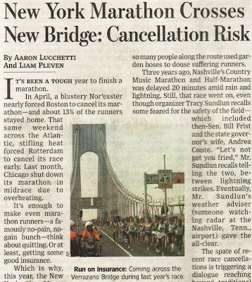 New York Marathon Crosses New Bridge: Cancellation Risk